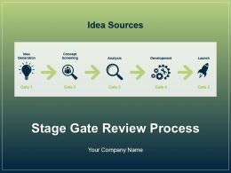 Stage Gate Review Process Powerpoint Presentation Slides