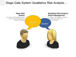 Stage Gate System Qualitative Risk Analysis Project Management Cpb