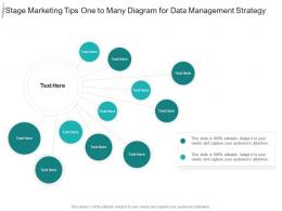 Stage Marketing Tips One To Many Diagram For Data Management Strategy Infographic Template