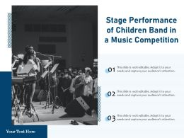 Stage Performance Of Children Band In A Music Competition