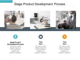 Stage Product Development Process Ppt Powerpoint Presentation Show Icons Cpb