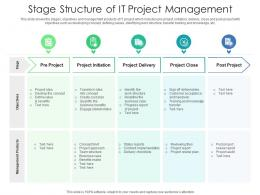 Stage Structure Of IT Project Management