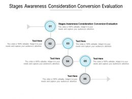 Stages Awareness Consideration Conversion Evaluation Ppt Powerpoint Presentation Summary Portfolio Cpb