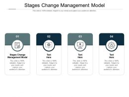 Stages Change Management Model Ppt Powerpoint Presentation Infographic Template Graphics Template Cpb