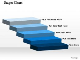 Stages Chart Step Powerpoint Template Slide