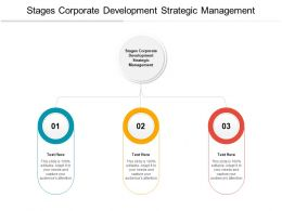 Stages Corporate Development Strategic Management Ppt Powerpoint Presentation Aids Cpb