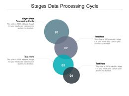 Stages Data Processing Cycle Ppt Powerpoint Presentation Model Graphics Example Cpb