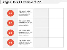 Stages Dots 4 Example Of Ppt