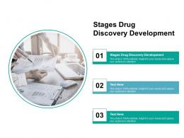 Stages Drug Discovery Development Ppt Powerpoint Presentation Pictures Smartart Cpb