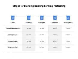 Stages For Storming Norming Forming Performing