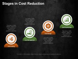 Stages In Cost Reduction Ppt Summary Background Images