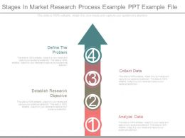 Stages In Market Research Process Example Ppt Example File