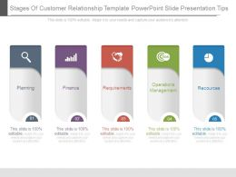 Stages Of Customer Relationship Template Powerpoint Slide Presentation Tips