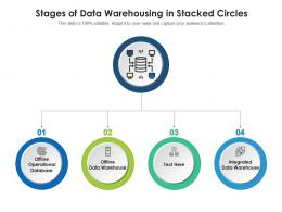Stages Of Data Warehousing In Stacked Circles