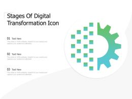 Stages Of Digital Transformation Icon