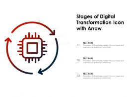 Stages Of Digital Transformation Icon With Arrow