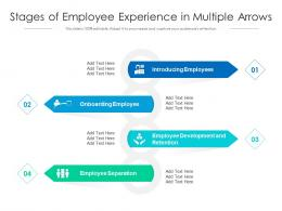 Stages Of Employee Experience In Multiple Arrows