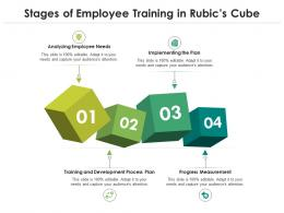 Stages Of Employee Training In Rubics Cube