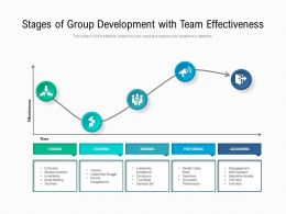 Stages Of Group Development With Team Effectiveness
