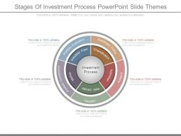 Stages Of Investment Process Powerpoint Slide Themes