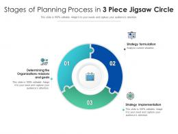 Stages Of Planning Process In 3 Piece Jigsaw Circle