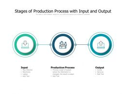 Stages Of Production Process With Input And Output