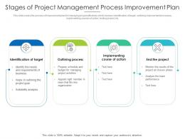 Stages Of Project Management Process Improvement Plan