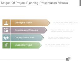 Stages Of Project Planning Presentation Visuals