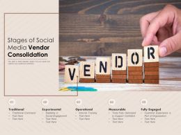 Stages Of Social Media Vendor Consolidation