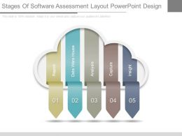 Stages Of Software Assessment Layout Powerpoint Design