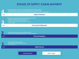 Stages Of Supply Chain Maturity Ppt Powerpoint Presentation Slides