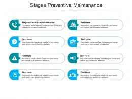 Stages Preventive Maintenance Ppt Powerpoint Presentation Model Visuals Cpb