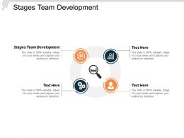 Stages Team Development Ppt Powerpoint Presentation Model Microsoft Cpb