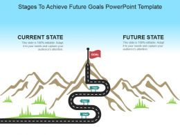 Stages To Achieve Future Goals Powerpoint Template