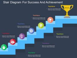 Stair Diagram For Success And Achievement Flat Powerpoint Design