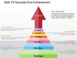 Stair Of Success And Achievement Flat Powerpoint Design