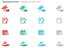 Stair Steps Alms Event Date Time Symbol Signing The Contract Ppt Icons Graphics
