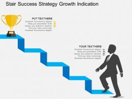 Stair Success Strategy Growth Indication Flat Powerpoint Design
