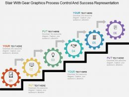 Stair With Gear Graphics Process Control And Success Representation Flat Powerpoint Design