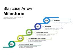 Staircase Arrow Milestone