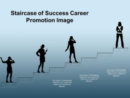 Staircase Of Success Career Promotion Image
