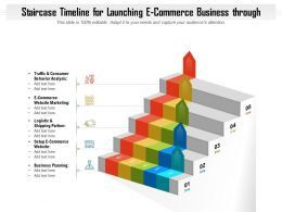 Staircase Timeline For Launching E Commerce Business Through