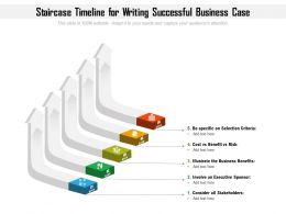 Staircase Timeline For Writing Successful Business Case