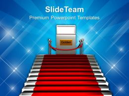 Stairs And Red Carpet Success Powerpoint Templates Ppt Themes And Graphics 0113