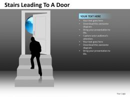Stairs Leading To A Door Powerpoint Presentation Slides DB