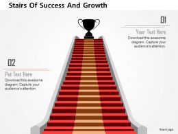 Stairs Of Success And Growth Flat Powerpoint Design