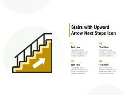 Stairs With Upward Arrow Next Steps Icon