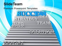 Stairway To Success Strategy Idea Powerpoint Templates Ppt Themes And Graphics 0113