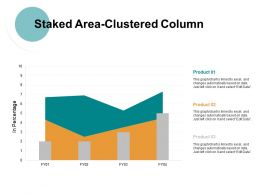 Staked Area Clustered Column Ppt Powerpoint Presentation File Good