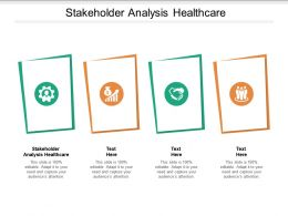 Stakeholder Analysis Healthcare Ppt Powerpoint Presentation Summary Background Image Cpb